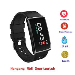 Hangang N68 Colorful Smart Bracelet IP67 Waterproof Smartwatch Support Bluetooth 4.0, Heart Rate ...
