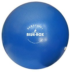 Blue-Rox 10″ Mini-Fitness Exercise Ball For Pilates, Yoga, and Core Training – BLUE