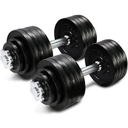 105 lbs Adjustable Cast Iron Dumbbells – ²DWP2Z