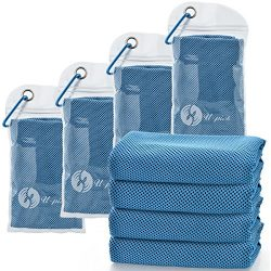 U-pick [4 Packs] Cooling Towel (40″x 12″), Ice Towel, Microfiber Towel, Soft Breatha ...