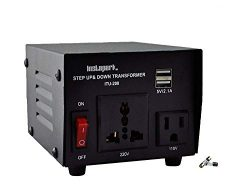 Instapark ITU-200 Step up/Down Voltage Transformer Converter Heavy Duty – AC 110/220v – 200 Watt