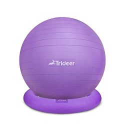 Trideer Exercise Ball Chair, 65cm&75cm Stability Ball Ring & Pump, Flexible Seating, Imp ...