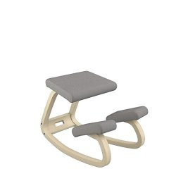Varier Variable Balans Original Kneeling Chair Designed by Peter Opsvik (Dark Grey Revive Fabric ...