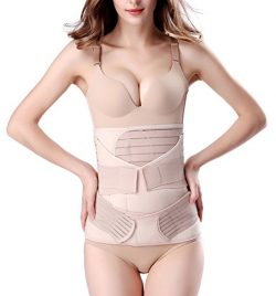 3 in 1 Postpartum Support – Recovery Belly/waist/pelvis Belt Shapewear Slimming Girdle, Be ...