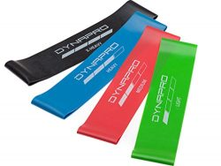 DYNAPRO Resistance Bands- Mini Precision Loop Exercise Bands with E-Quickstart Workout Guide (Bl ...