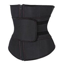 KIWI RATA Abdominal Belt High Compression Zipper Neoprene Waist Trainer Cincher Corset Body Faja ...