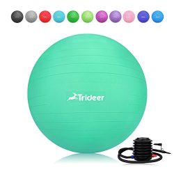 Trideer Exercise Ball, Yoga Ball, Birthing Ball with Quick Pump, Anti-Burst & Extra Thick, H ...
