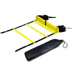 Agility Ladder MAXZOLA Adjustable Speed Ladder Soccer Training Tool with Carry Bag (12-Rung)