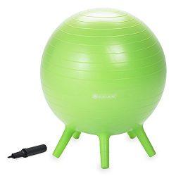 Gaiam Kids Stay-N-Play Children's Balance Ball – Flexible School Chair, Active Class ...