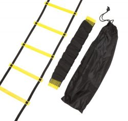Trademark Innovations 12 Rungs Agility Training Ladder, Black/Yellow