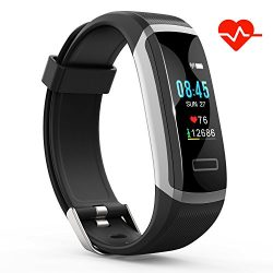 Akuti Fitness Tracker HR, Fitness Watch with Heart Rate Monitor, Activity Tracker, Sleep Monitor ...