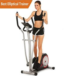 Elliptical Trainer Machine Magnetic Smooth Quiet Driven Exercise Machine for Home Gym (Elliptica ...