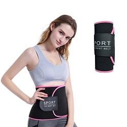 SNORSO Slimming Sweat Waist Trimmer Belt,Neoprene Abdominal Trainer Belly Fat Burner Weight Loss ...