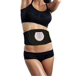 MotherMed EMS Waist Trimmer Electronic Abdominal Muscle Stimulation AB Belt Toning Massager with ...