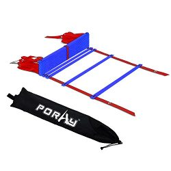 Poray Training Agility Ladder with carry bag, 12,20 Rungs Speed Training Equipment (Blue-20 rungs)