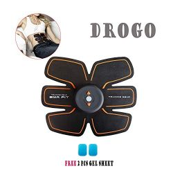 DROGO Ultimate Abs Stimulator Rechargeable Ab Workout Abdominal Trainer Muscle Toner Abs Muslce  ...