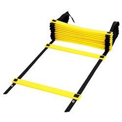 Kearui Speed Training Agility Ladder Quick Sports Ladder 12 Rung 6m Speed Training Equipment Adj ...