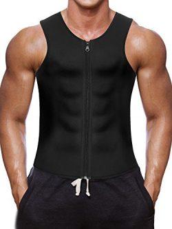 Men Waist Trainer Vest for Weightloss Hot Neoprene Corset Body Shaper Zipper Sauna Tank Top Work ...