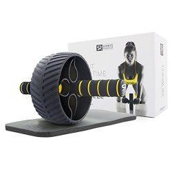 Sports Research Sweet Sweat Ab Wheel | Abdominal Exercise Wheel for Core Strength Training | wit ...