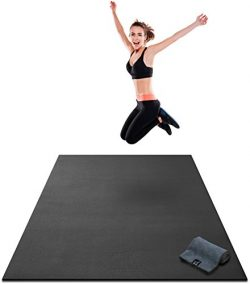 Premium Large Exercise Mat – 7′ x 4′ x 8mm Ultra Durable, Extra Thick, Non-Sli ...
