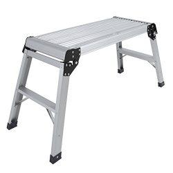 Certified EN131 Aluminum Platform Drywall Step Folding Work Bench Stool Ladder