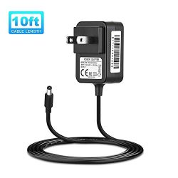IBERLS Extra Long 10ft Power Cord, DC 9V Power Supply Replacement Schwinn Elliptical Machine Ada ...