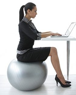 CalCore Exercise Ball Chair From Professional Strength Antiburst Ball with Hand Pump for Office, ...