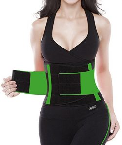 YIANNA Waist Trimmer Belt Underbust Back Support Adjustable Abdominal Elastic Waist Trainer Hour ...