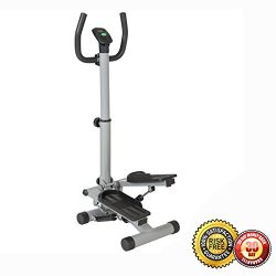 New Exercise Stair Stepper Portable Climber Machine Air Stepping Workout Step Cardio Sliver
