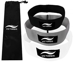 VICTOREM Booty Resistance Workout Hip Excercise Bands – Cotton Fitness Loop Circle Exercise Legs ...