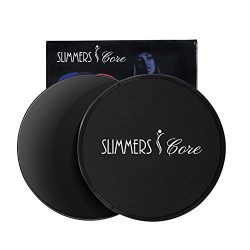 Sliding Discs, Gliding Discs,Smooth Exercise Core Sliders Reversible for use on Carpet or Hard F ...
