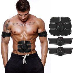 PRETID Muscle Toner, Abdominal workouts Fitness Portable AB Machine Abdominal Toning Belt Traini ...