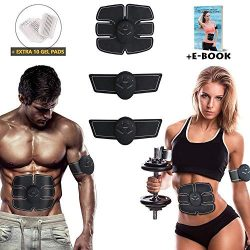Eon Concepts Muscle Trainer Ultimate Abs Stimulator with 10 Extra Gel Pads & E-Book | EMS Ab ...