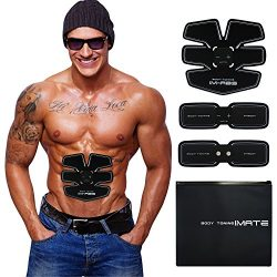 IMATE Muscle Toner, Abdominal Toning Belt Abs Training Gear Portable Fitness Machine Exercise Fo ...