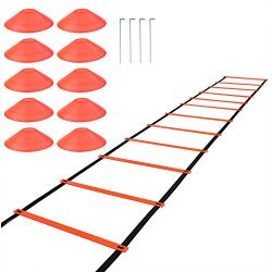 SUMERSHA Agility Ladder Speed Training Equipment Fitness Exercise Ladder for Soccer Football Bas ...