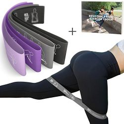 MVN Resistance Bands Set Exercises Guide Printed on Loop Bands to Tone Legs Butt Core and Arms P ...