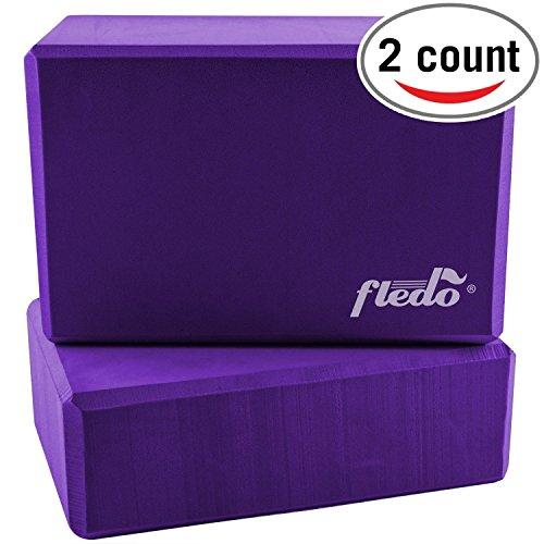 Fledo Yoga Blocks (Set of 2) 9″x6″x4″ – Eco-friendly EVA Foam Brick, Fea ...