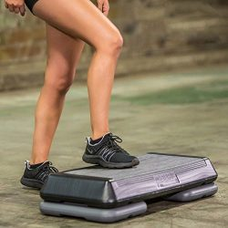 Aerobic Step Platform Circuit Size,Riser,Non-Slip,Top Grooved,Total Body Fitness