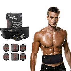 Woolala Electrical Abdominal Toning Belts Muscle Stimulation Toner Belt Waist Trimmer Belt, Unis ...