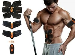 Basherry Ab Toner Abs stimulator Abdominal Toning Belts Muscle Training Gear,Portable Unisex Fit ...