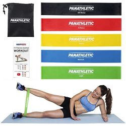 Resistance Loop Bands/Exercise Bands/Fitness Bands, Set of 5 Exercise Guide, eBook Carry Bag – 5 ...