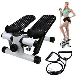 Household Mute Stepper, Hydraulic Mute Stepper Aerobic Twister with Adjustable Resistance Bands, ...