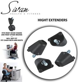 "Sivan Height Extenders (2"") for Balance Ball Chairs; Set of 4"