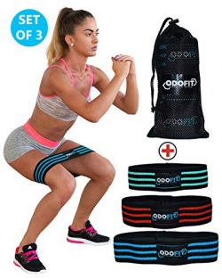 ODOFIT New Booty Resistance Bands Hip Loop Bands for Legs and Butt Workout – Fabric Anti-S ...