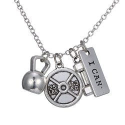Gmai Beautiful Workout Exercise Weight Lifting Barbell Kettlebell Fitness Silver Fitness Gym Bar ...