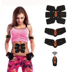 Abdominal Muscle Toner ABS Trainer Body Fit Toning Belt Fitness Training Gear For Abdomen Arm Le ...