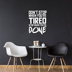 Don't Stop When You're Tired Stop When You're Done – Inspirational Gym Q ...