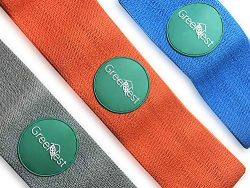 Resistance Bands Fabric Anti-Slipping Glute – Set of 3 Stretch Non Latex – Booty Ban ...