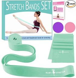 Stretch Bands for Ballet – Exercise Resistance Band Set for Dance – 2 Dance Stretch  ...