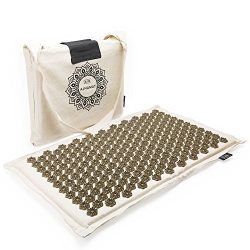 Eco Acupressure Massage Mat Natural Linen Cotton | Acupuncture Mats for Neck, Back, Reflexology, ...